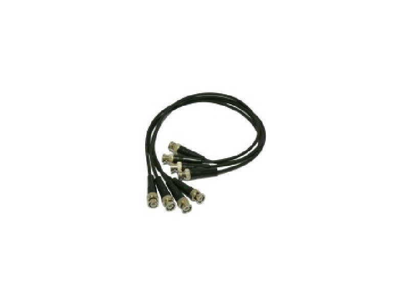 Fio extra-flexível 4 cabos BNC macho -> BNC macho - ACS-204
