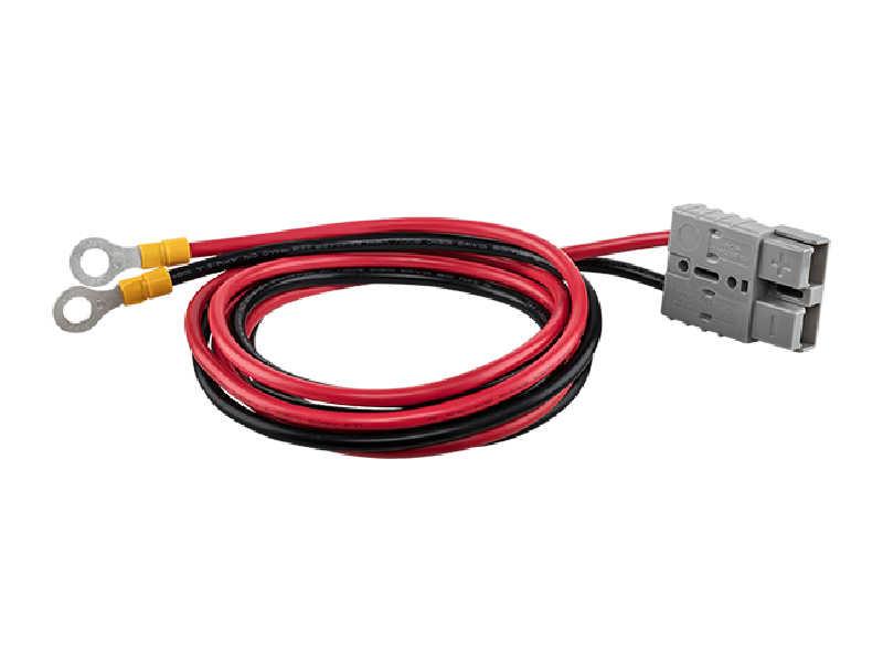 O CBO 601 é um conjunto de cabos de engate rápido para conexão de baterias externas para nobreaksCabo engate rápido baterias externas CBO601