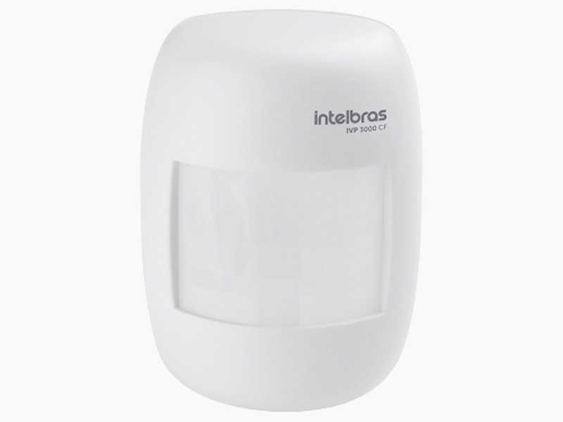 O IVP 3000 CF possui lente leitosa, compensação automática de temperatura, cobertura com ângulo de 115° e alcance de 12m.