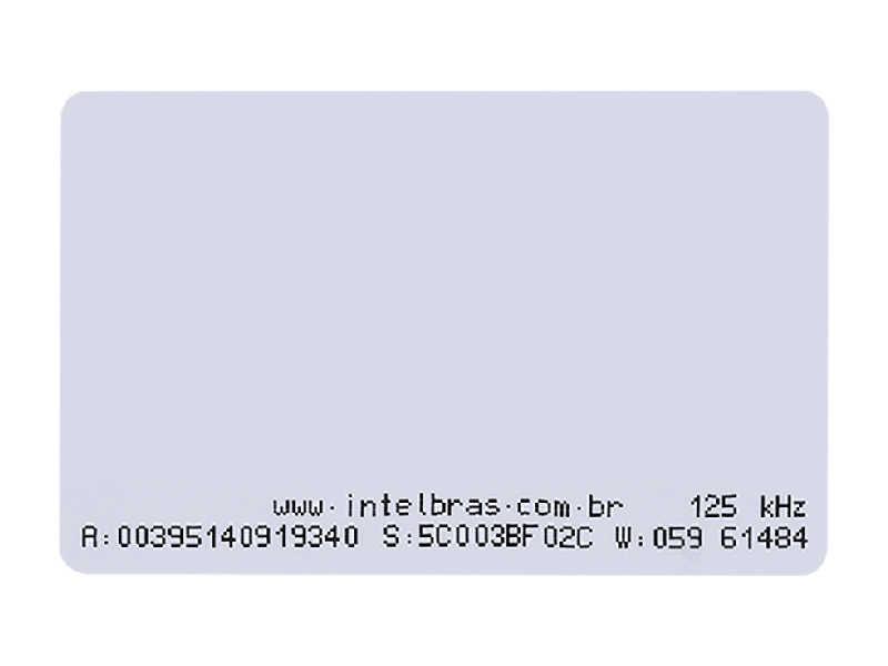 O TH 2000 é um cartão de proximidade RFID com códigos únicos pré-gravados de 64 bits e com impressão de IDs nas laterais.