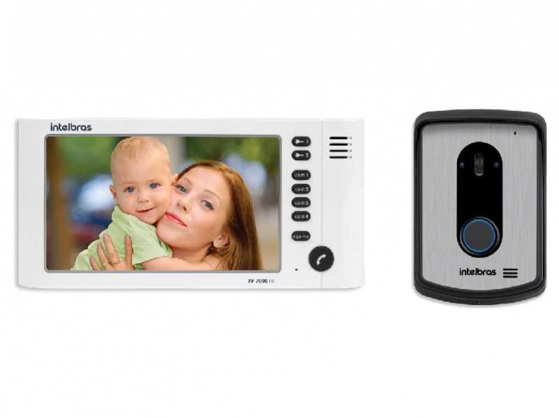 O IV 7010 HF tem capacidade para 4 canais de vídeo e possui saída para 2 fechaduras abrindo portas ou portões com praticidade e segurança.