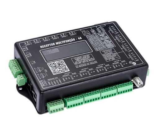 O Receptor Multifunção 4A foi desenvolvido para gerenciar o controle de acesso em condomínios residenciais ou comerciais operando em modos: TX (controles remotos), CTWB (leitoras RFID/ Biometrias), TAG PASSIVO e TAG ATIVO.