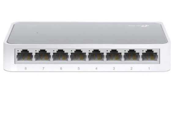 O Switch Fast Ethernet TL-SF1008D é projetado para ambientes SOHO (Small Office / Home Office) ou os usuários de grupo pequeno de trabalho.